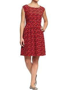 Women's Crepe Dresses   #Old Navy I would suggest pairing this with a either a brown, black, or navy blazer to add more interest to the dress!