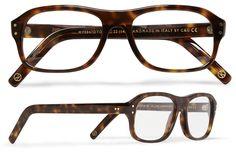 Cutler and Gross tortoiseshell acetate square-frame optical glasses