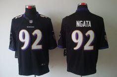 Ravens #92 Ngata black Mens Limited NFL Jersey