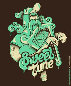 Vector Illustration - Sweet tune by Creative Illustration, Character Illustration, Graphic Design Illustration, Digital Illustration, Graphic Art, Material Didático, Affinity Designer, Illustrations Posters, Adobe Illustrator