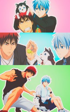 Kuroko no Basket. Kuroko and Kagami's bromance is my new favorite thing. Kawaii!!  ^w^