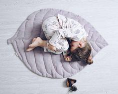 Play Mat, Baby Play Mat, Play Mat Linen, Linen Mat, Leaf Mat, Linen Leaf,  Mat For Baby, Washed Linen Mat