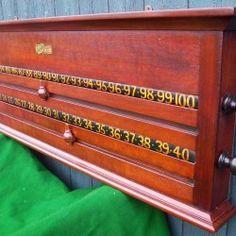 Antique Snooker Scoreboard / Rollerboard.Herbert Holt.B481 | Browns Antiques Billiards and Interiors. Antique snooker and billiards tables. Antique Furniture.