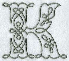 Celtic Knotwork Letter K...