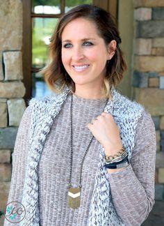 Chevron Necklace   Wrap Bracelet   Initial Outfitters