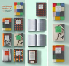 Self-Publish Starter Kit for InDesign | Book Design Template Pack Book Design Templates, Indesign Templates, Cover Template, Page Template, Note Fonts, Cover Style, Magazine Template, Self Publishing, Color Swatches