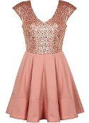 Sugared Peach Dress
