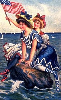 Vintage art like this always makes me smile- I love how classic it is!  ----  Vintage 4th of July