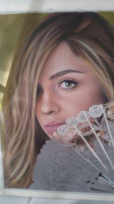 Pastel portrait by Paola Petrucci
