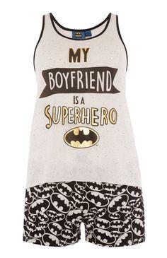 Grey Boyfriend Superhero PJ Set