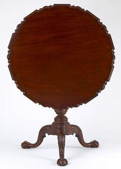 T129   Philadelphia (Fisher Fox) Pie Crust Tilt Top Tea Table