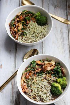Vegan Mushroom Ramen Soup // http://apolloandluna.com