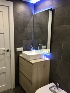 Cuarto de baño Living Spaces, Barcelona, Sink, Vanity, Led, Bathroom, Home Decor, Nail Decorations, Quartos
