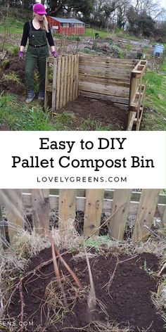 Raised Garden Beds Discover Build an Easy Wooden Compost Bin using Pallets How to build an Easy Wooden Compost Bin using pallets. A pallet compost bin takes ten minutes to build & creates space for converting waste to compost. Wooden Compost Bin, Pallet Compost Bins, Unique Garden, Easy Garden, Garden Edging, How To Garden, Indoor Garden, Diy Raised Garden Beds, Wood For Raised Beds