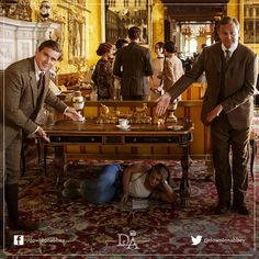 I volunteer to get paid to work under a table on the set of #DowntonAbbey. #dreamjob