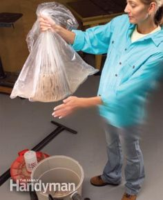 Stick filter in a plastic bag and shake gently