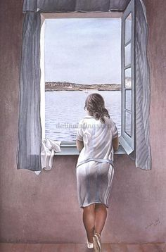 One of my favorite Dali paintings- Figure At A Window
