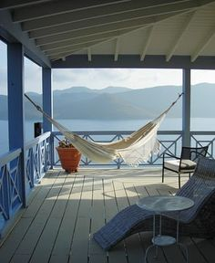 Makes me want to buy a hammock.  Wonder if it would come with this awesome view!
