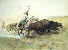 Charles M Russell RARE NEW WESTERN ART POSTER Outlaw