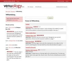 Venuology — We All Make Music- Venue reviews — by musicians, for musicians    Knowledge is power. Musicians on Venuology anonymously review venues they've played at. Armed with info about sound quality, room size, pay and vibe, we can collectively pressure clubs to improve!  http://www.venuology.com/