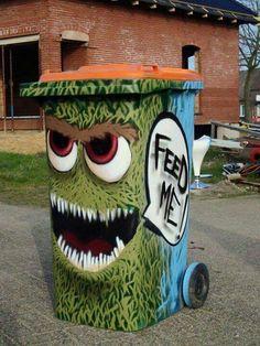 trash can art.