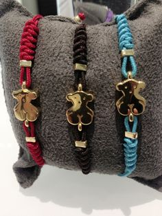 Our 18K Gold Bear in different colors, make your favorite bracelet only @Tous Washington DC