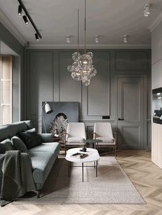 Un appartement classique chic par Cartelle Design - PLANETE DECO a homes world home design - Reality Worlds Tactical Gear Dark Art Relationship Goals Cozy Living Rooms, Home Living Room, Interior Design Living Room, Modern Interior, Living Room Designs, Living Room Decor, Color Interior, Interior Design Elements, Interior Livingroom