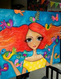 Risultati immagini per romi Lerda Kunstjournal Inspiration, Art Journal Inspiration, Mickey Mouse Kunst, Madhubani Art, Rock Painting Designs, Happy Paintings, Arte Popular, Face Art, Art Faces