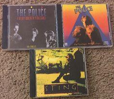 The Police/Sting 3 CD Lot Every Breath You Take Zenyatta Mondatta Summoners Tale #RocknRoll #sting