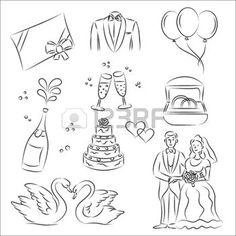 mariage: Ensemble de Sketch mariage