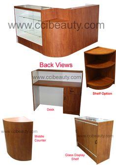 L-Shape Reception Desks CC-8005 #receptiondesk #frontdesk #salon #spa #dayspa #barbershop #barber