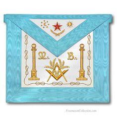 Freemason apron worn at lodge meetings.