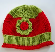 Green red Christmas holiday hat
