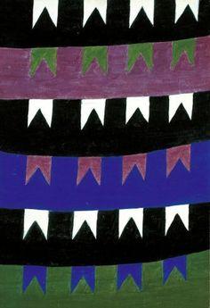 """Arte Moderna no Brasil: """"Bandeirinhas"""", Alfredo Volpi (1896-1988). Veja também: http://semioticas1.blogspot.com.br/2013/06/arte-entre-guerras.html"""