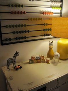 How to for DIY abacus - great for nursery!!!