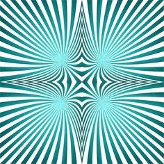 Cyan Twirl Abstract