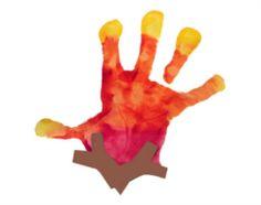 Handprint Campfire arts and crafts project for preschoolers