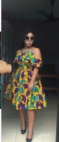 Trendy Short Ankara Dresses To Slay This Month Short Ankara Dresses, African Print Dresses, African Print Fashion, Africa Fashion, African Dress, African Prints, African Attire, African Wear, African Women