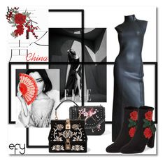 """Cheongsam X China"" by e-ffy on Polyvore featuring Jean-Paul Gaultier, Steve Madden, STELLA McCARTNEY and Dolce&Gabbana"