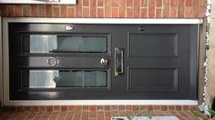 French grey front door