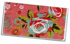 Checkbook Cover Jasmine Tea Floral check book cover checkbook holder 7a by rabbitholeonline on Etsy