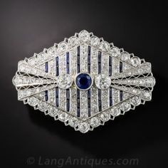 Art Deco Sapphire an