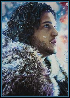 Night's Watch Vows by David Desbois  www.daviddeb.deviantart.com OR http://www.facebook.com/david.desbois.artwww.daviddeb.deviantart.com OR http://www.facebook.com/david.desbois.art  My second Jon Snow sketch card (played by Kit Harington)2.5*3.5 sketch cardwatercolor/marker/multiliner/copic white