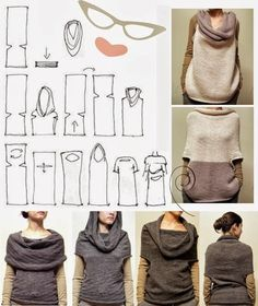 urbandon: RANDOM SEWING PATTERNS This looks like an interesting way to make a multi purpose garment.