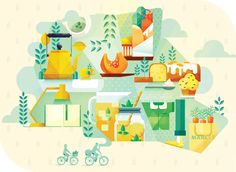 Simple yet charming.  |   City Guides by Maïté Franchi on Behance