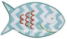 Fish 2 Applique Design