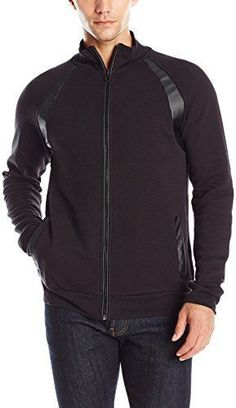 cff11ce98 Kenneth Cole Reaction Men's Double Faced Mock Neck Sweatshirt