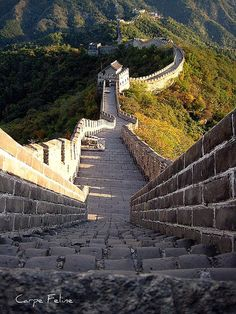 Steep steps towards the next guard hut, The Great Wall of China (by Carpe Feline).
