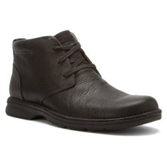 Clarks Men's Senner Ave Boot,Black Tumbled Leather