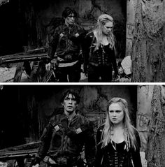 "#The100 4x01 ""Echoes"" - Clarke and Bellamy"